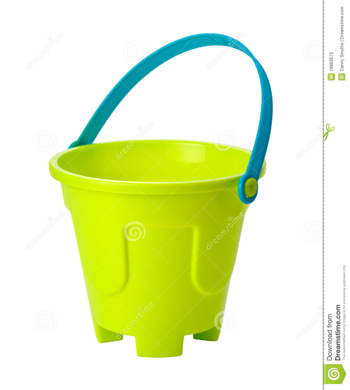 Beach Toy Sand Pail Isolated With Clipping Path Isolation Is On A