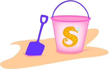 Beach Toys Clip Art Pail And Shovel