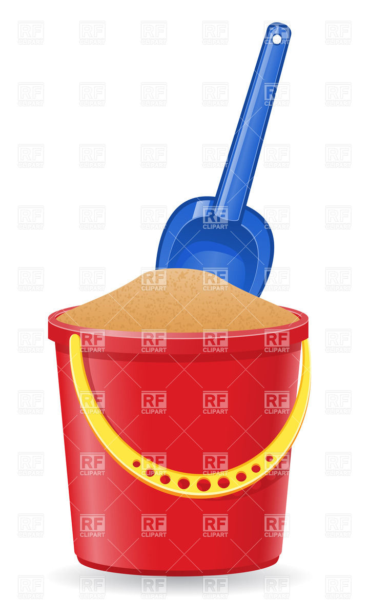 Bucket With Sand And Shovel Download Royalty Free Vector Clipart  Eps