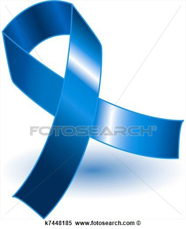 Clipart   Dark Blue Awareness Ribbon And Shadow  Fotosearch   Search