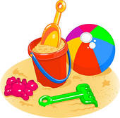 Clipart Of Sand Bucket And Shovel Vmo0061   Search Clip Art