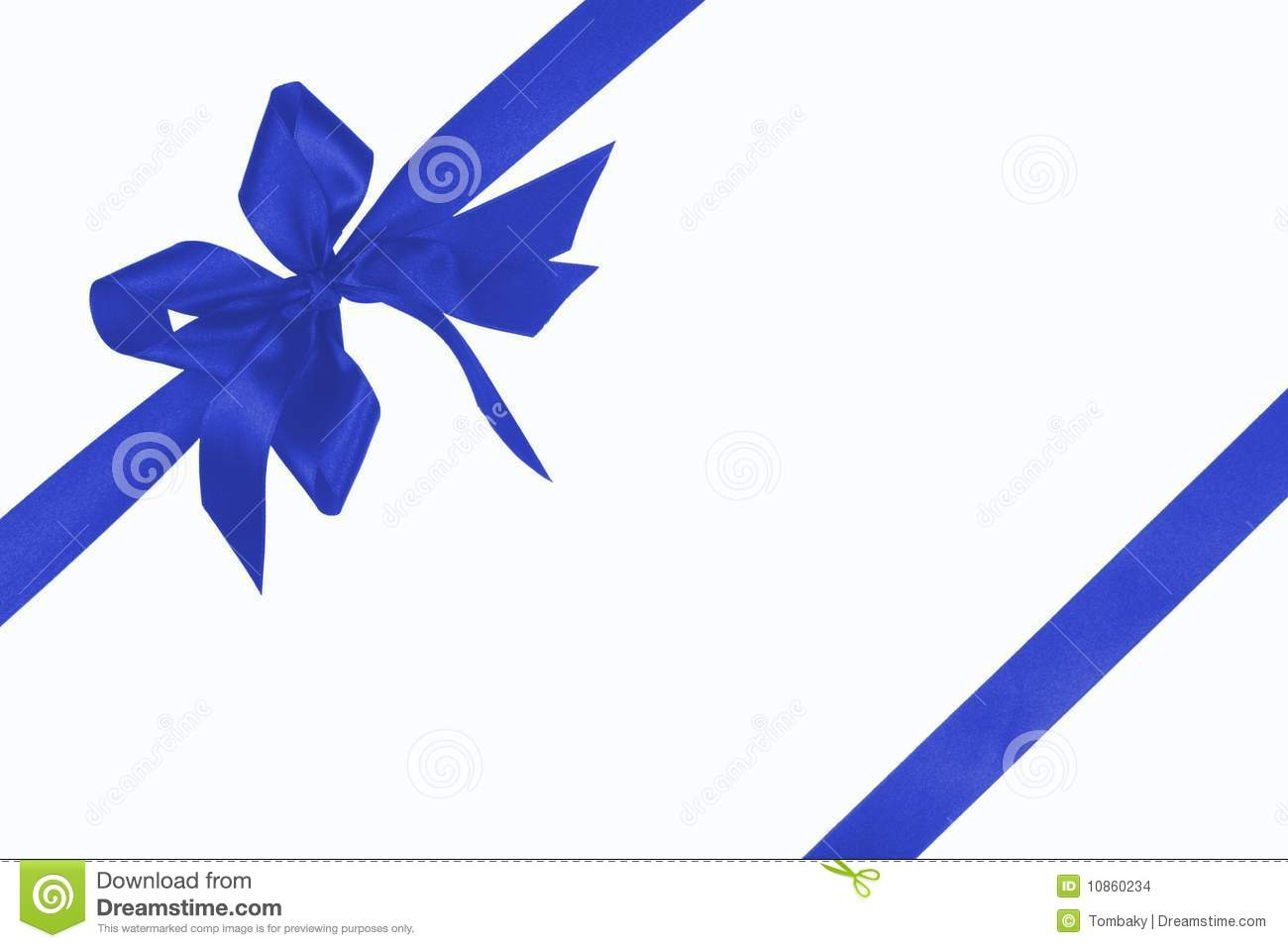 Dark Blue Bow With Ribbon Stock Images   Image  10860234