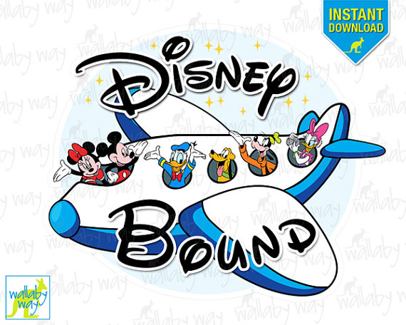 Disney Bound Mickey Airplane Printable Iron On Transfer Or Use As Clip