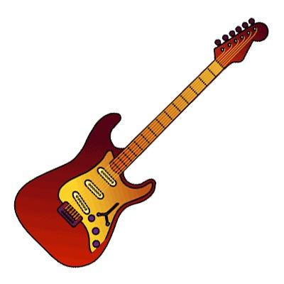 Rock Guitar Clipart - Clipart Kid