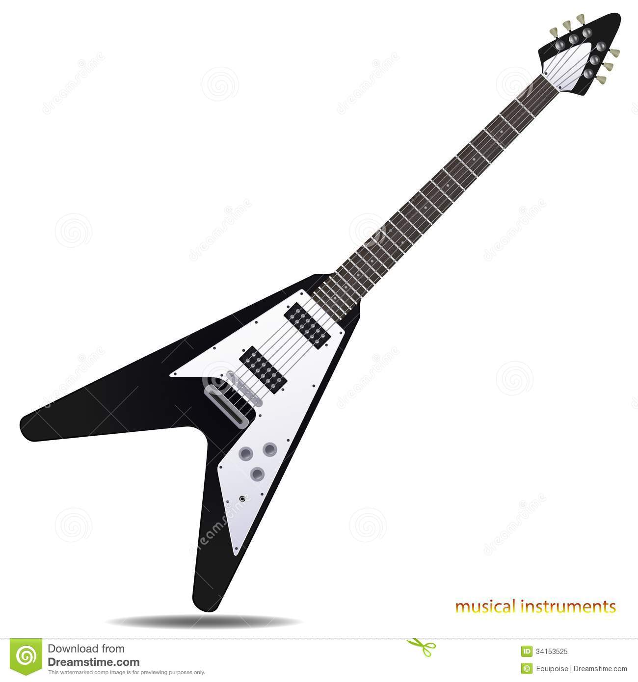 electric guitar clip art � cliparts