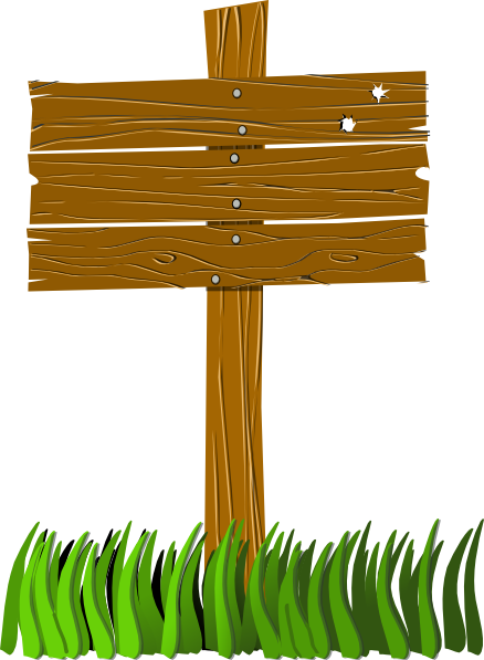 Free Wooden Sign Post Clip Art