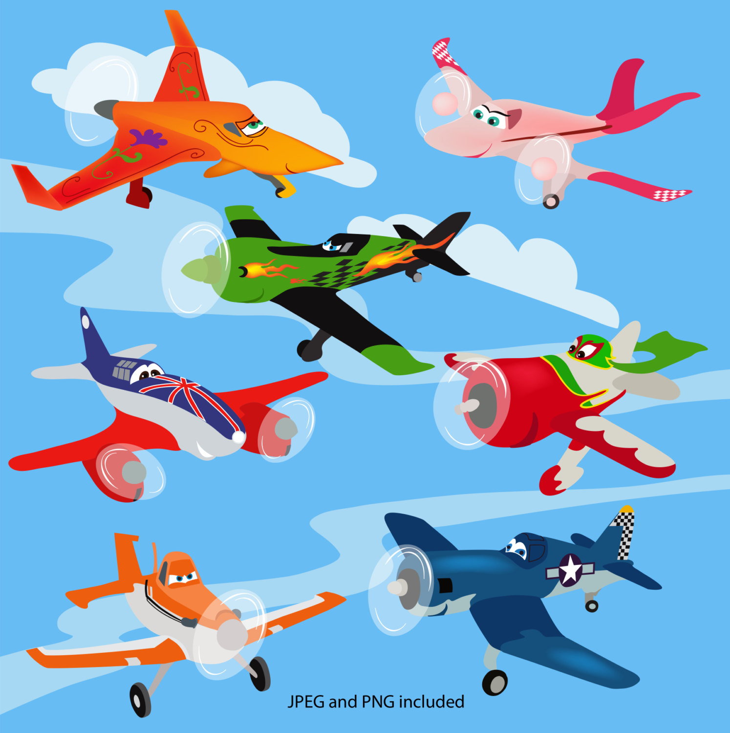 Disney Movie Airplanes Clipart - Clipart Suggest