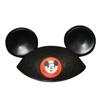 Mickey Mouse Ears Black Hat