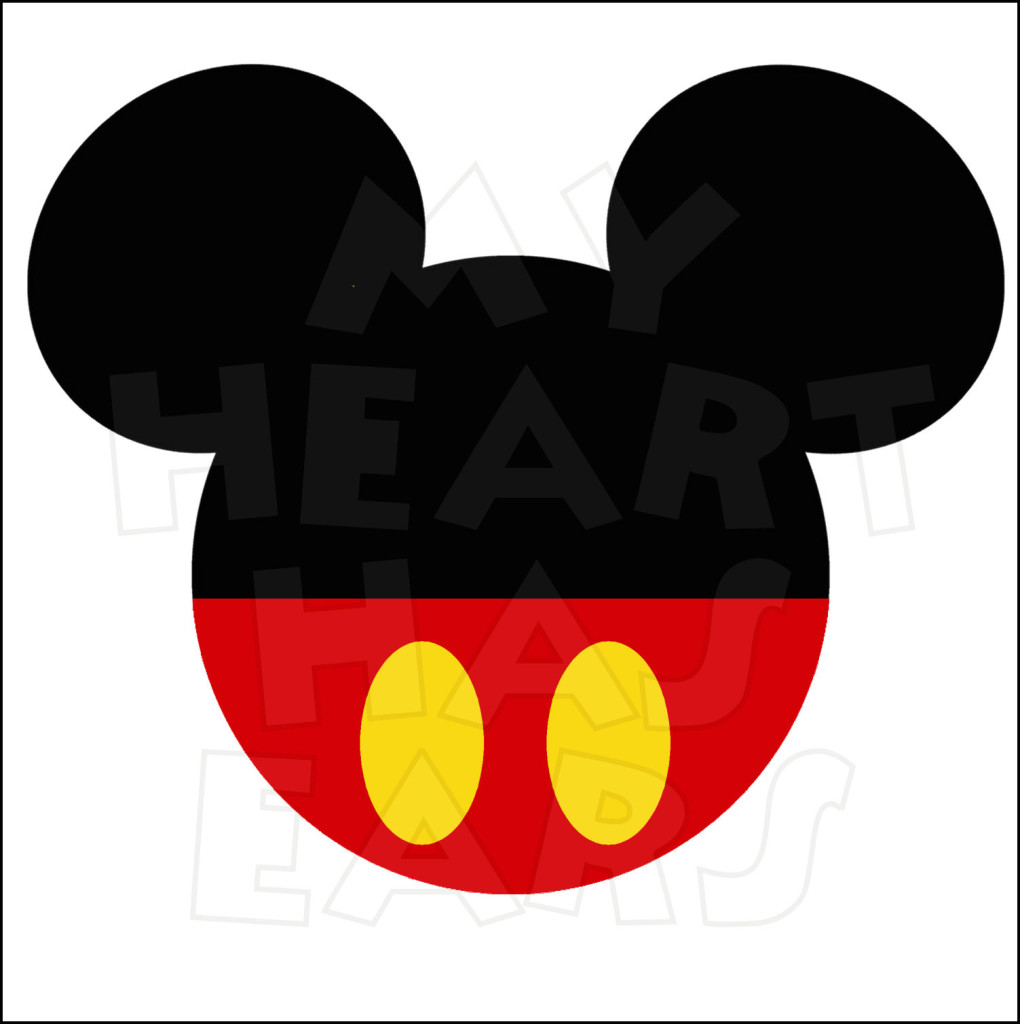 Original Mickey Mouse Ears Head Instant Download Digital Clip Art