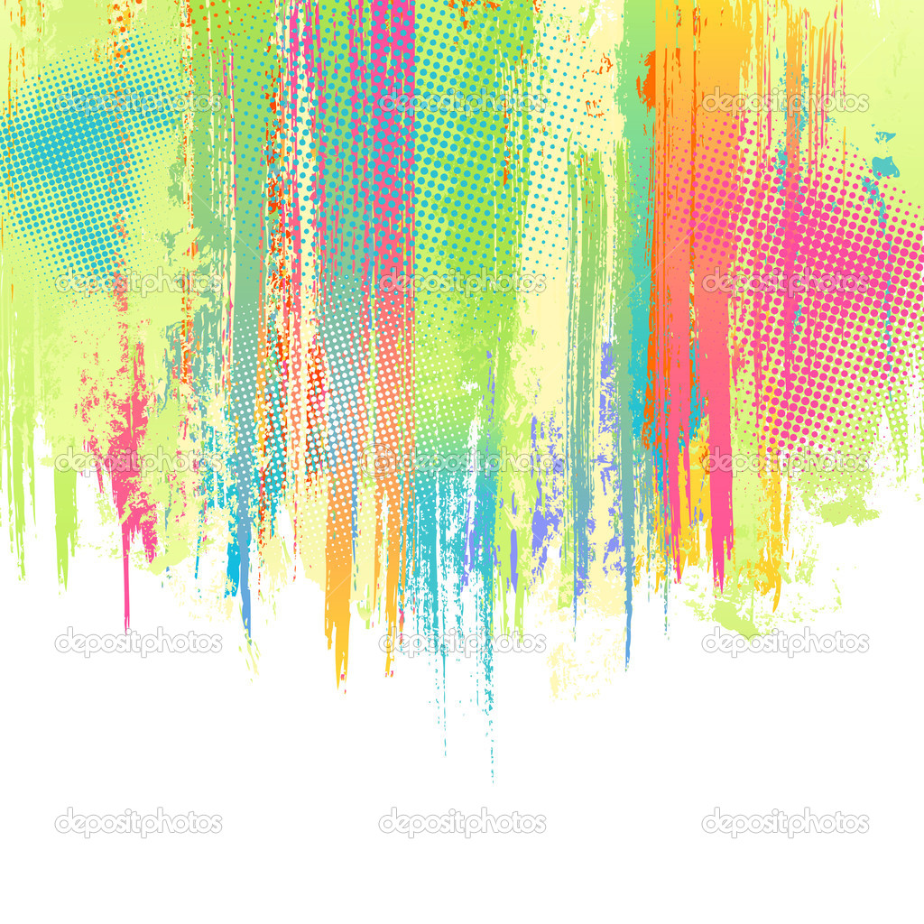 Pastel Paint Splashes Background  Vector   Stock Vector   Designer