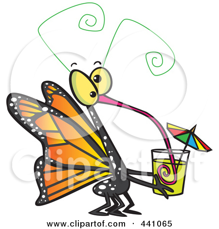 Royalty Free  Rf  Clip Art Illustration Of A Cartoon Butterfly