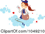 Royalty Free Rf Clip Art Illustration Of A Valentine Stick Mail Girl