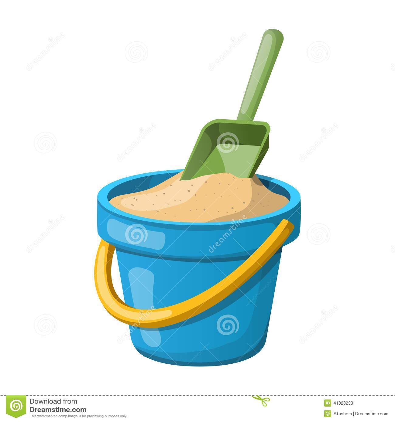 Sand Bucket And Shovel  Vector Illustration Stock Vector   Image