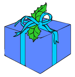 Share Package Blue Ribbon And Blue Dark Clipart With You Friends