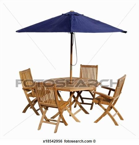 Garden table with umbrella clip art cliparts - Garden table with umbrella ...