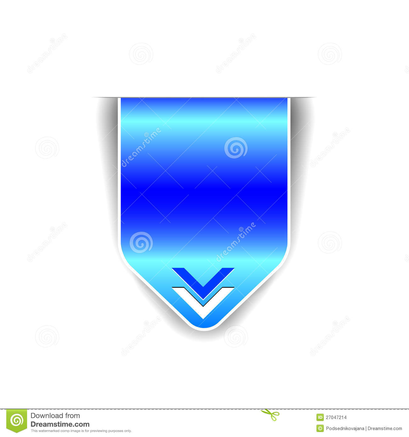 Vector Elements   Blue Ribbon  Light And Dark Blue