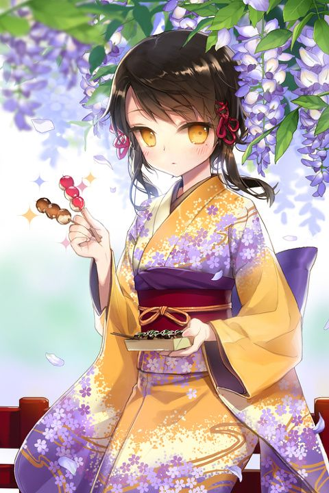 Very Cute Kimono Girl   Cg Computer Graphics Art   Pinterest