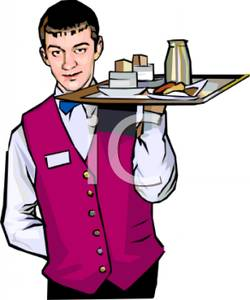 Clip Art Waiter Clipart waiter clipart kid young wearing a uniform royalty free clipart