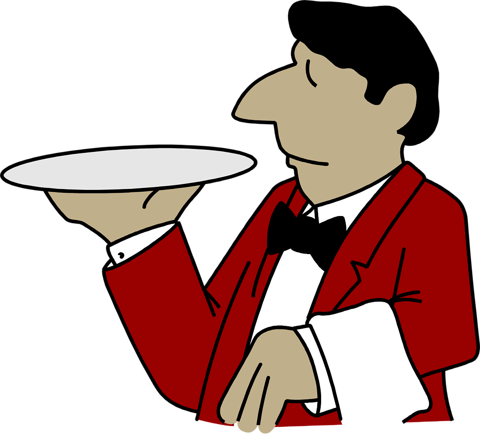 Clip Art Waiter Clipart waiter waitress clipart kid free stock photo illustration of a with an emptry