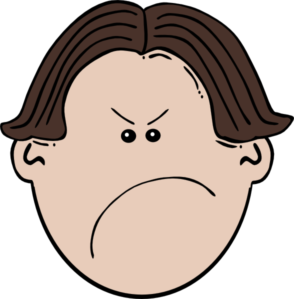 Angry Brown Boy Clip Art At Clker Com   Vector Clip Art Online