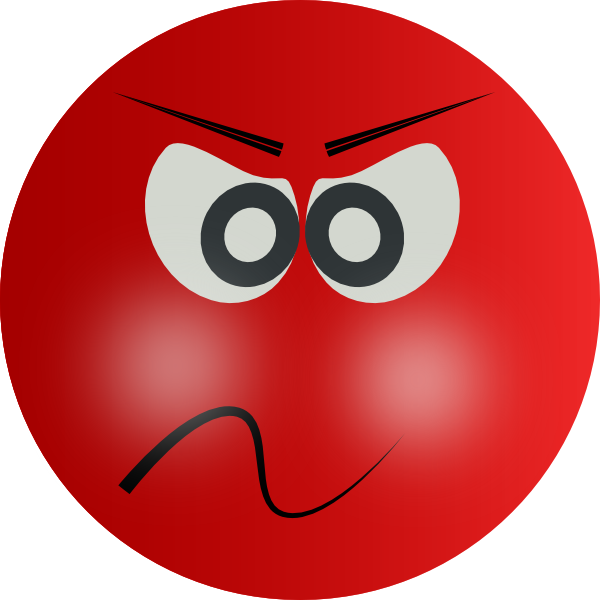 Angry Red Face Clip Art At Clker Com   Vector Clip Art Online Royalty