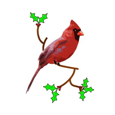 Arizona Cardinal Holiday Clip Art