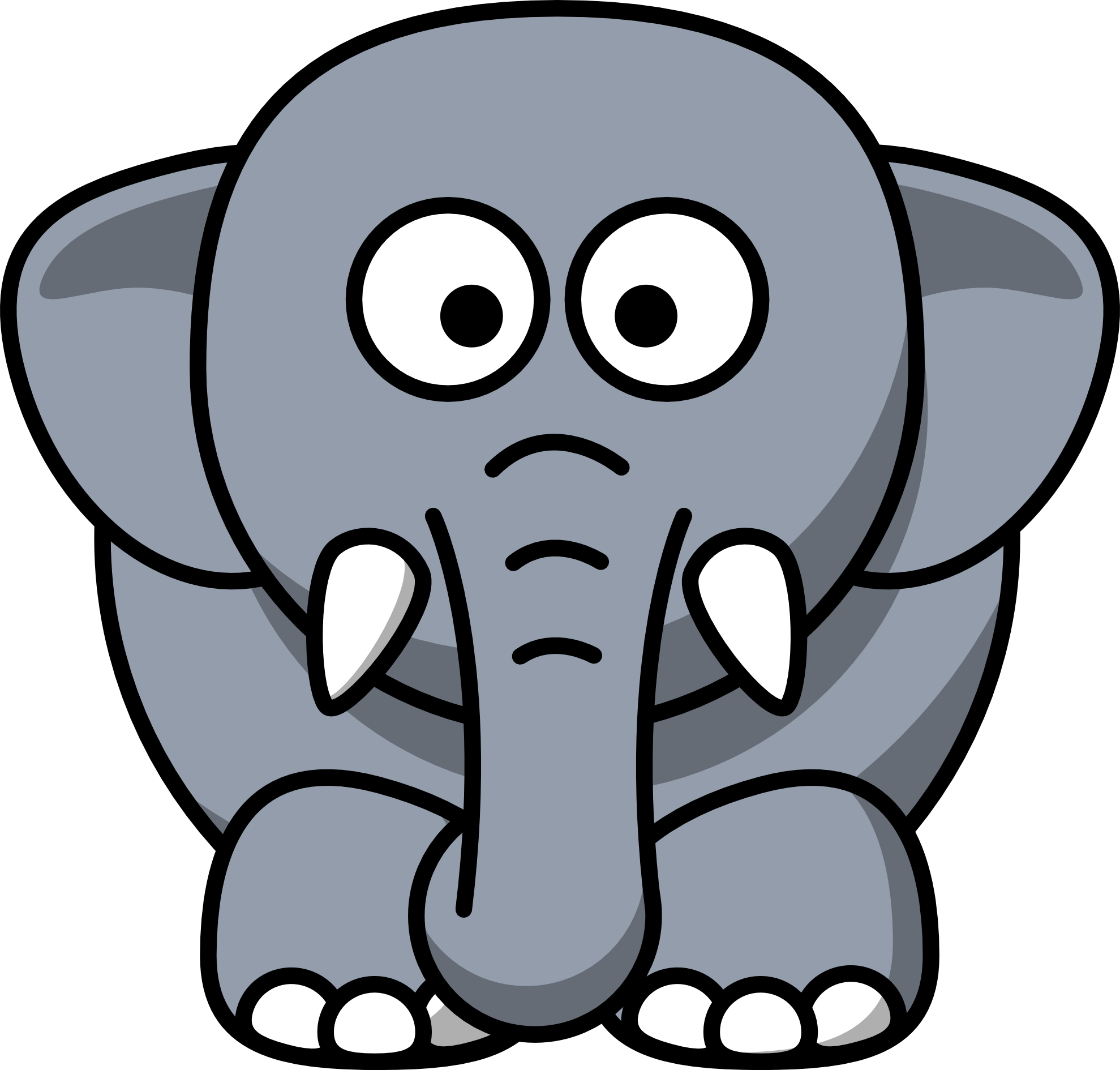 elephant clipart panda - photo #12