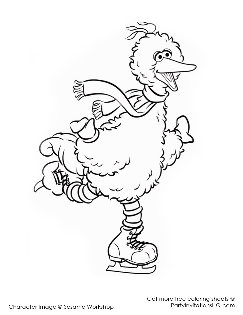 Big Bird Christmas Clipart