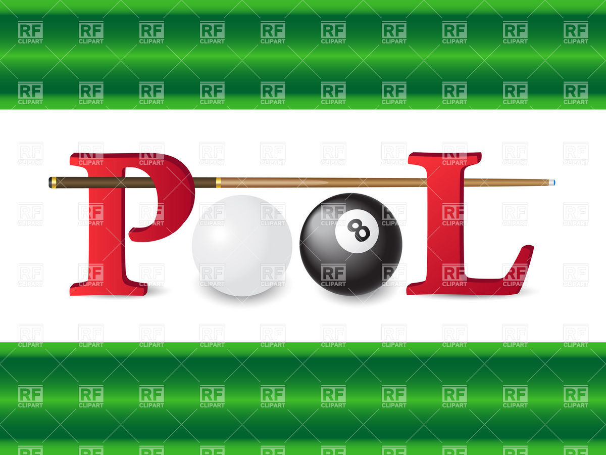 Billiards   Ball And Cue Download Royalty Free Vector Clipart  Eps
