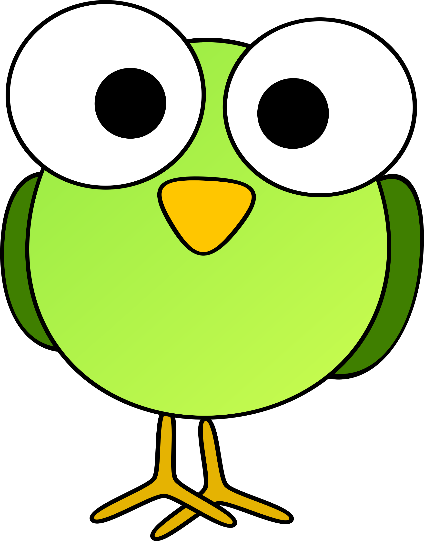 Bird Clipart Image Funny Looking Little Cartoon Bird With A Big