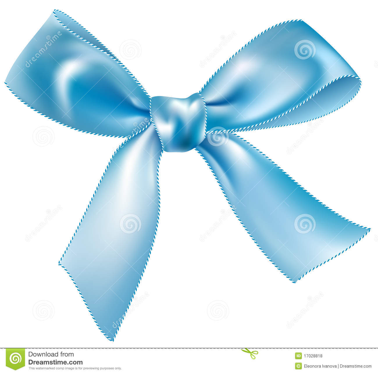 Blue Silk Bow Royalty Free Stock Photos   Image  17028818