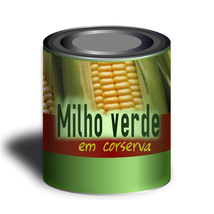 Can Of Corn Clipart Large Size