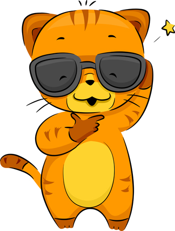 Cat Cool Illustration Of A Cool Cat Price   10 00 License Personal Use