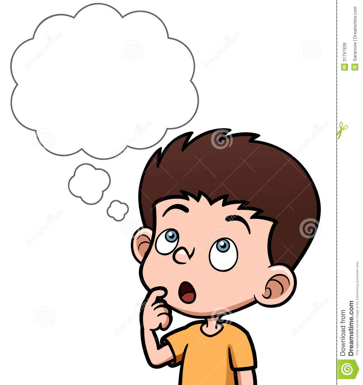 Child Thinking Clipart Boy Thinking Clipart