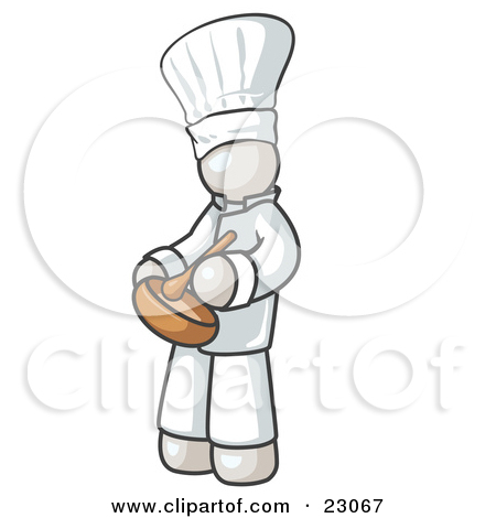 Clipart Illustration Of A White Baker Chef Cook In Uniform And Chef S