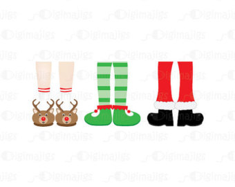 Clipart Of Reindeer Slippers Santa Boot Clipart Elf Clipart  Unique