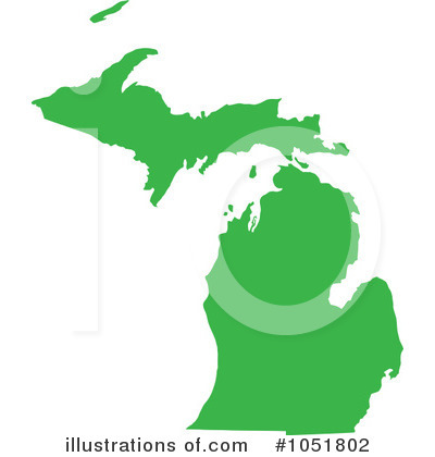 Michigan Clipart  1051802 By Jamers   Royalty Free  Rf  Stock