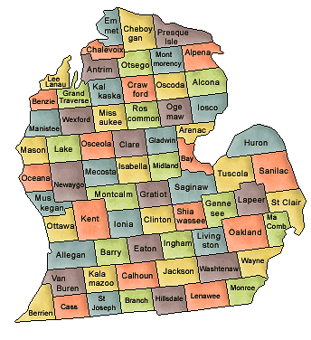 Michigan   Http   Www Wpclipart Com Geography Us Counties Michigan Png