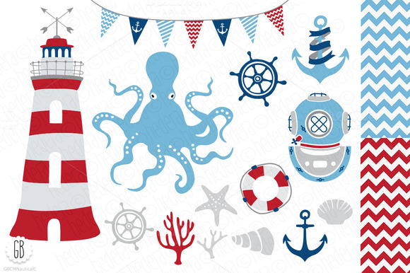 Nautical Clip Art Nautical Vector Clip Art