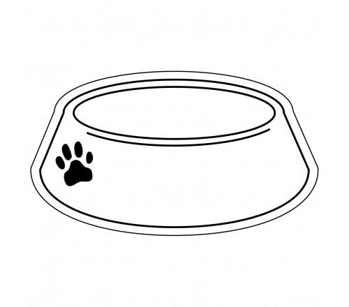 Dog Bowl Outline Clipart - Clipart Kid