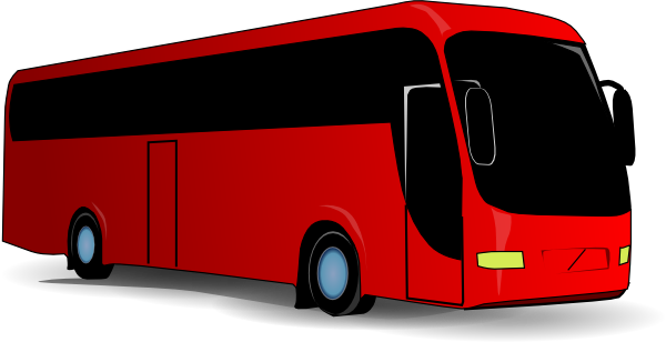 Red Travel Bus Clip Art At Clker Com Vector Clip Art Online Royalty