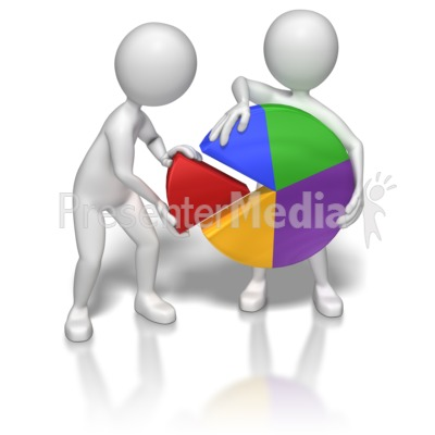 Teamwork Pie Chart   Business And Finance   Great Clipart For
