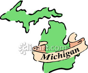 The State Of Michigan   Royalty Free Clipart Picture