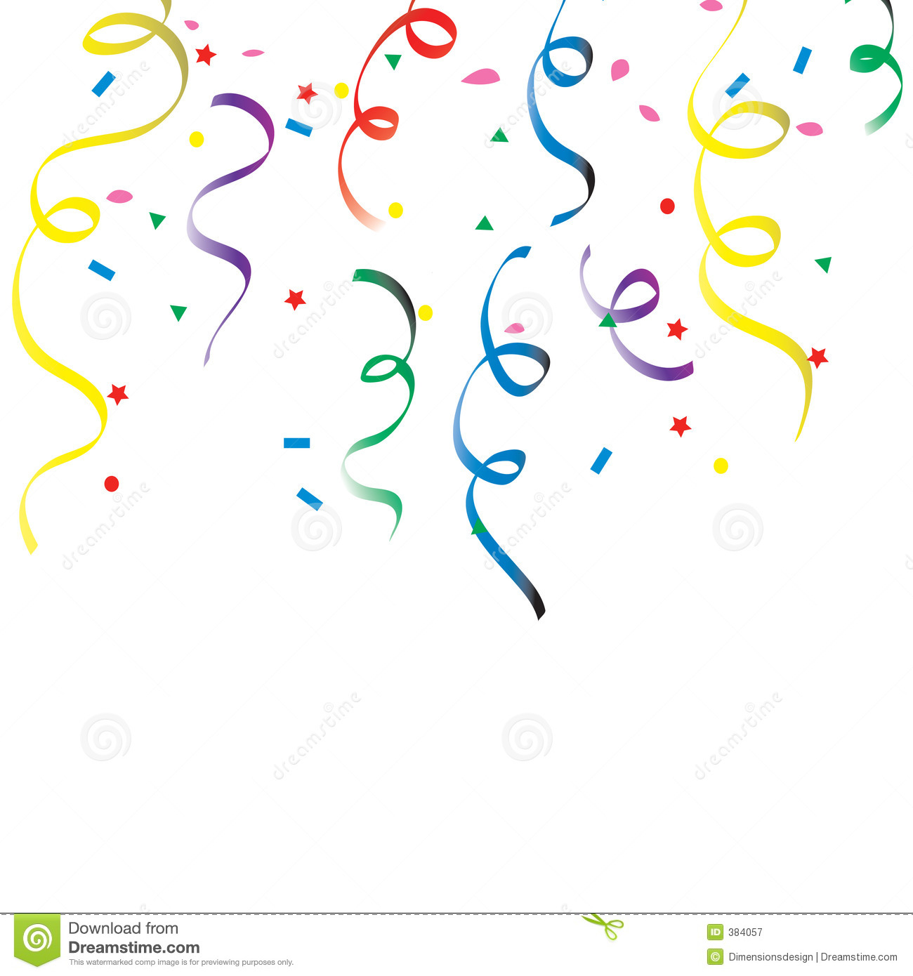 New Years Falling Confetti Animated Confetti Clip...