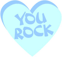 Valentine Candy Heart Clip Art You Rock Word Art