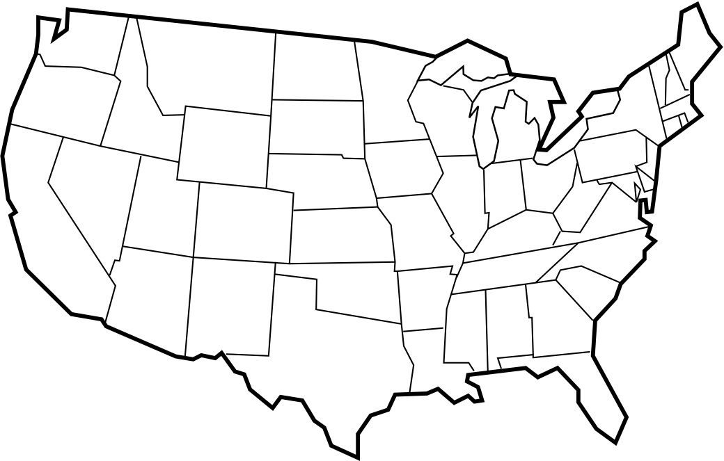Blank United States Map Worksheet - Pichaglobal