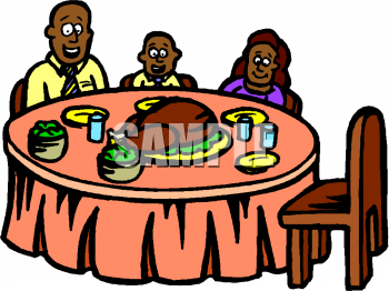 Family Dining Clipart - Clipart Kid
