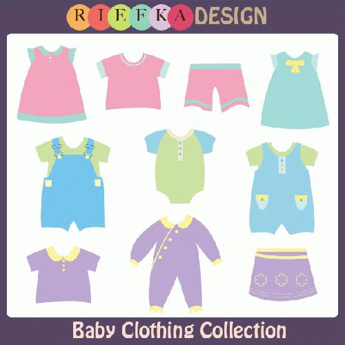 Baby Clothes Clipart My Grafico  Baby Clothing