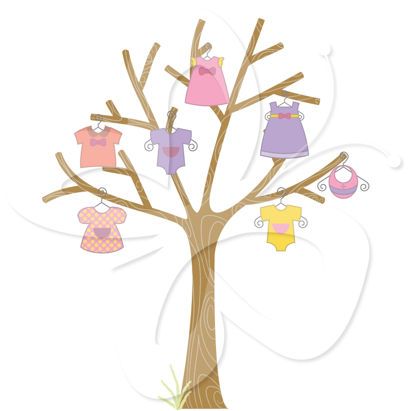 Baby Clothes Clipart Tree Creative