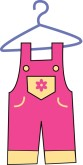 Clipart Overalls Clipart Baby Clothes Clipart Dress On Hanger Clipart